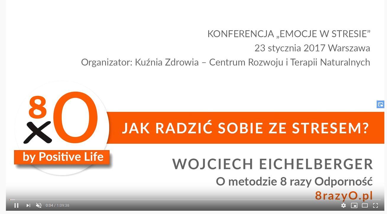 Cykl wykładów z Wojciechem Eichelbergerem o stresie i jak sobie z nim radzić